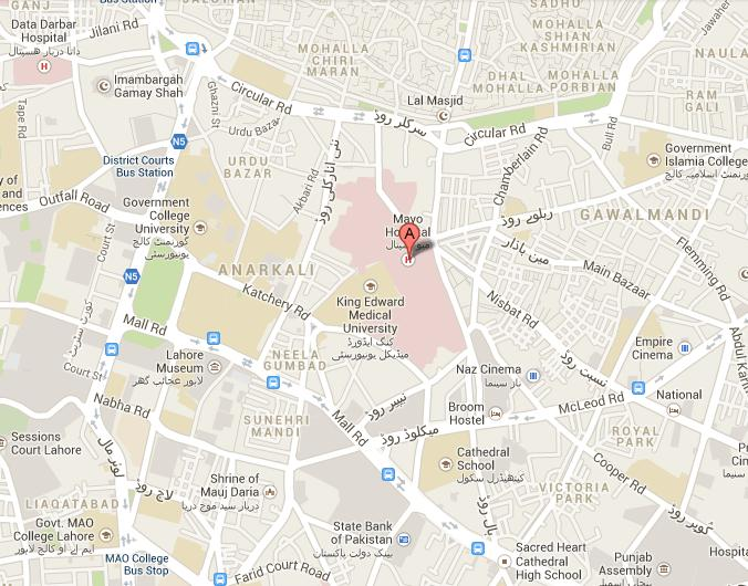 Location Map Mayo Hospital Lahore PAKWORKERS