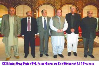 CCI Meeting Group Photo of PM, Finace Minister and Chief Ministers of All 4 Provinces