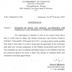 Clarification  Regarding Revision of BPS, Allowances and Pension