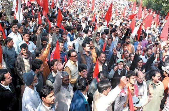WAPDA Employees Rally Against Privatization in Lahore