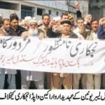 Wapda Hydro Union Protest in Mingora Swat