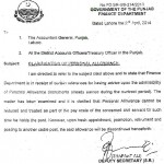Personal Allowance Clarification - Punjab Finance Dept dated 2/4/2014