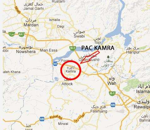 PAC Kamra Location Map