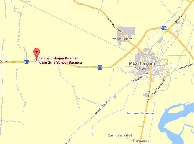 Location Map Emine Erdogan Daanish Care School Basira District Muzaffargarh