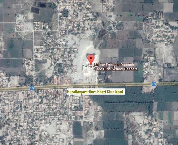 Satellite Map Emine Erdogan Daanish Care School Basira District Muzaffargarh