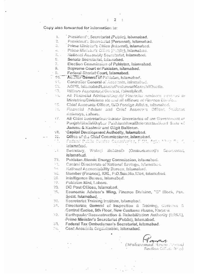 Federal Govt Notification of Employees Pay Increase 2014 b