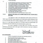 Punjab Finance Department Notification for moving one scale up to all employees grade1-4