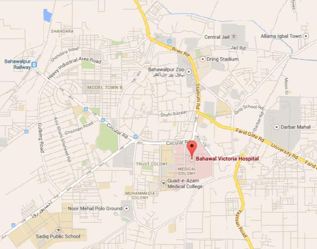 Bahawal Victoria Hospital Bahawalpur Location Map