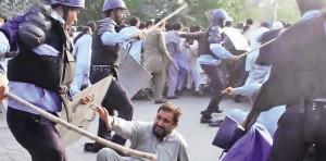 Baton-Charge on OGDCL Workers in Islamabad red Zone