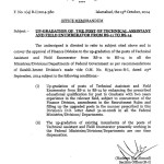 Upgradarion Notification of Posts of Technical Assistant and field enumberator 1
