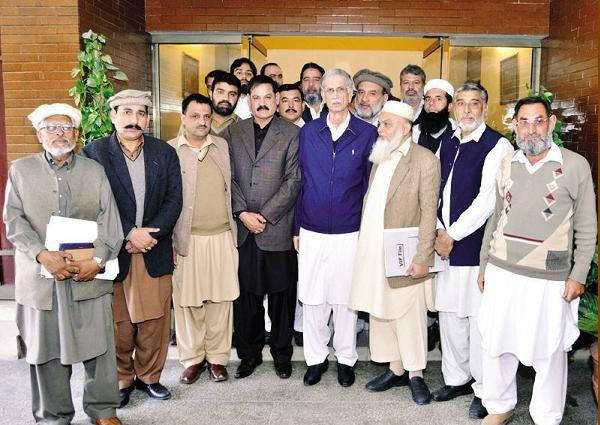 Khyber Pakhtunkhwa Technical and Non-Technical Employees Council with CM Pervaiz Khatak