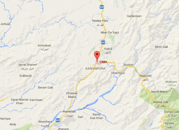 MCH Abbottabad Location Map