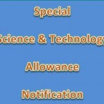 Science and Technology Allowance Notification 2014