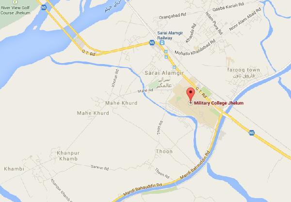 Location Map Military College Jhelum