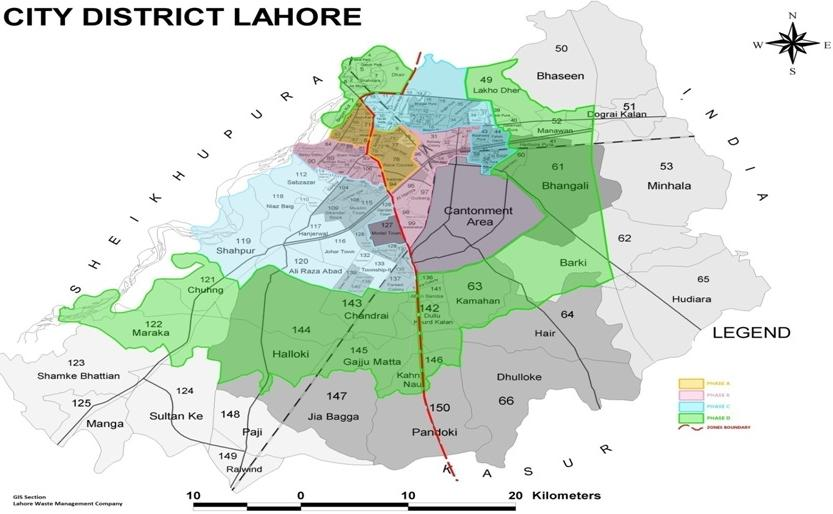 City District Lahore Map PAKWORKERS