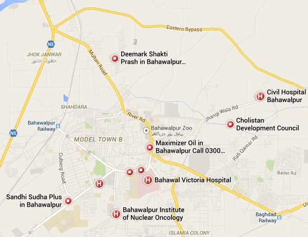Location Map BV Hospital Civil Hospital Bahawalpur PAKWORKERS