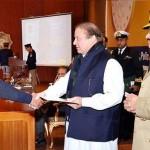 Nawaz Sharif giving prize in Motorway Police Ceremony 30-12-2014