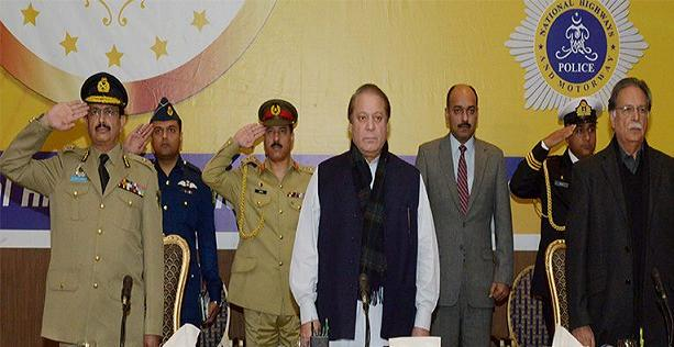 Nawaz Sharif in Motorway Police Ceremony 30-12-2014
