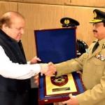 Nawaz Sharif with IG in Motorway Police Ceremony 30-12-2014