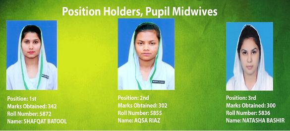 Pupil Midwives Position Holders 1-1-2015