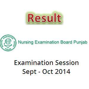 Result Nursing Examination Board Punjab 2014-2015