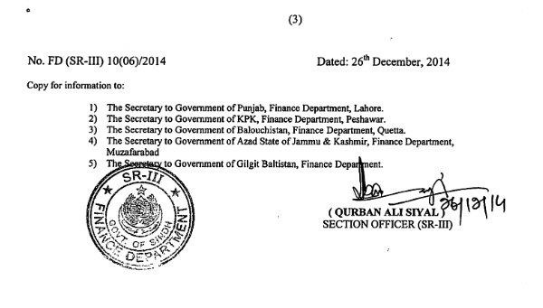 Sindh Police Revised Allowances Notification 2014 3