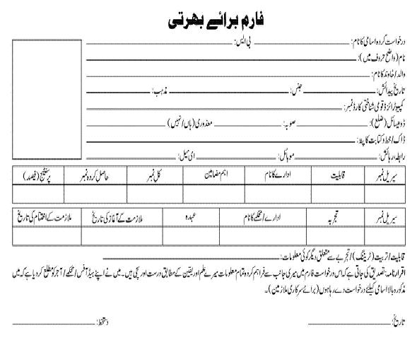 Application Form PM House Board of Investment