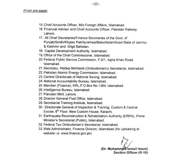 Finance Division Notification of Non-Practicing Allowance dated 6-2-2015 (Page 2)