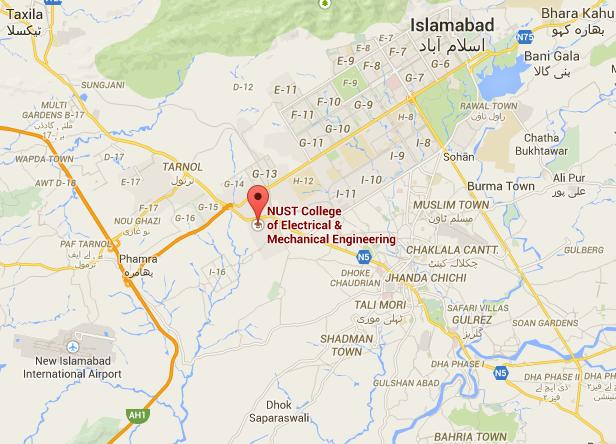 Location Map - College of E&ME Rawalpindi