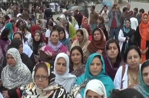 PIMS Doctors and Nursing Staff Protest in Islamabad