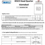 IESCO Job Application Form (Page 1)