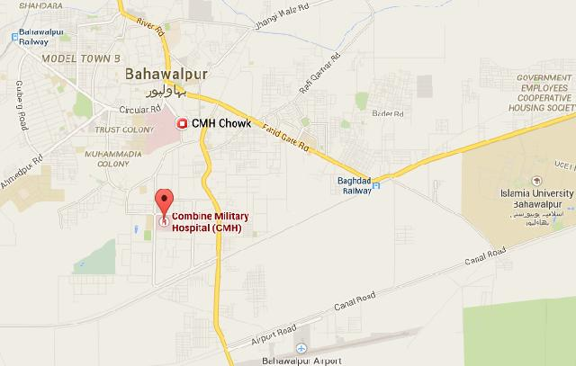 Location Map CMH Bahawalpur Cant