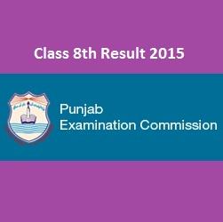 PEC 8th Class Result 2015