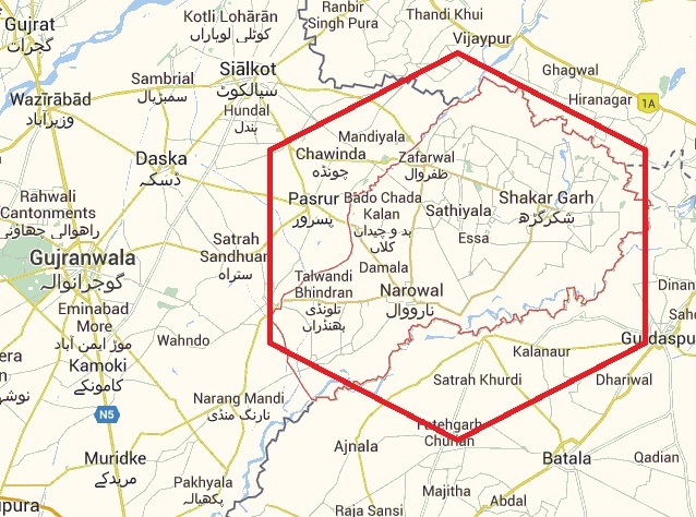 Map Narowal District