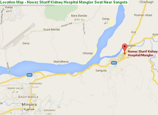 Nawaz Sharif Kidney Hospital Swat - Location Map