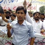 Paramedics Alliace Protest in Lahore 20-4-2015 b