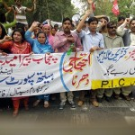 Paramedics Alliance Protest in Lahore 20-4-2015