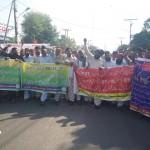 Punjab School teachers Protest meeting and rally in Multan