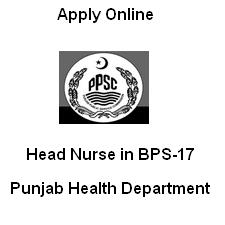 Head Nurse Job Through PPSC Online