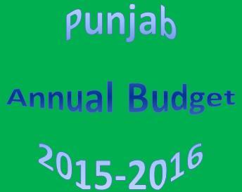 Punjab Annual Budget 2015-2016
