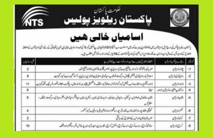 Jobs of Assistant Sub-Inspector (ASI) in Pakistan Railways Police through NTS