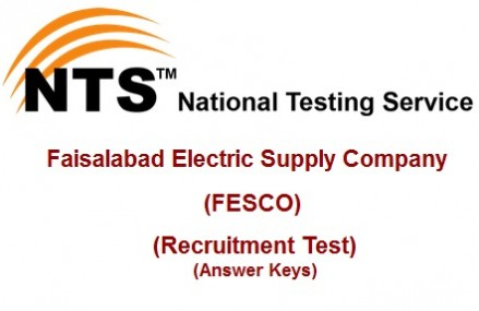 NTS Announced FESCO Jobs Recruitment Test Result