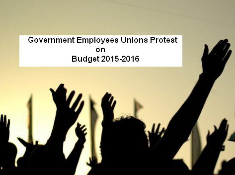 Govt Employees Unions Protest on Budget 2015-2016