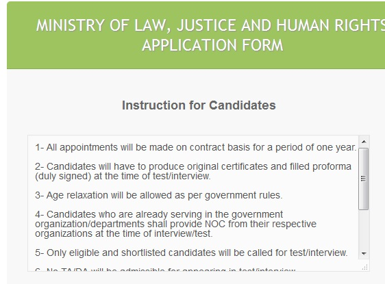 Job Application Online - Instructions for Candidates