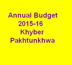 KPK Budget 2015-2016