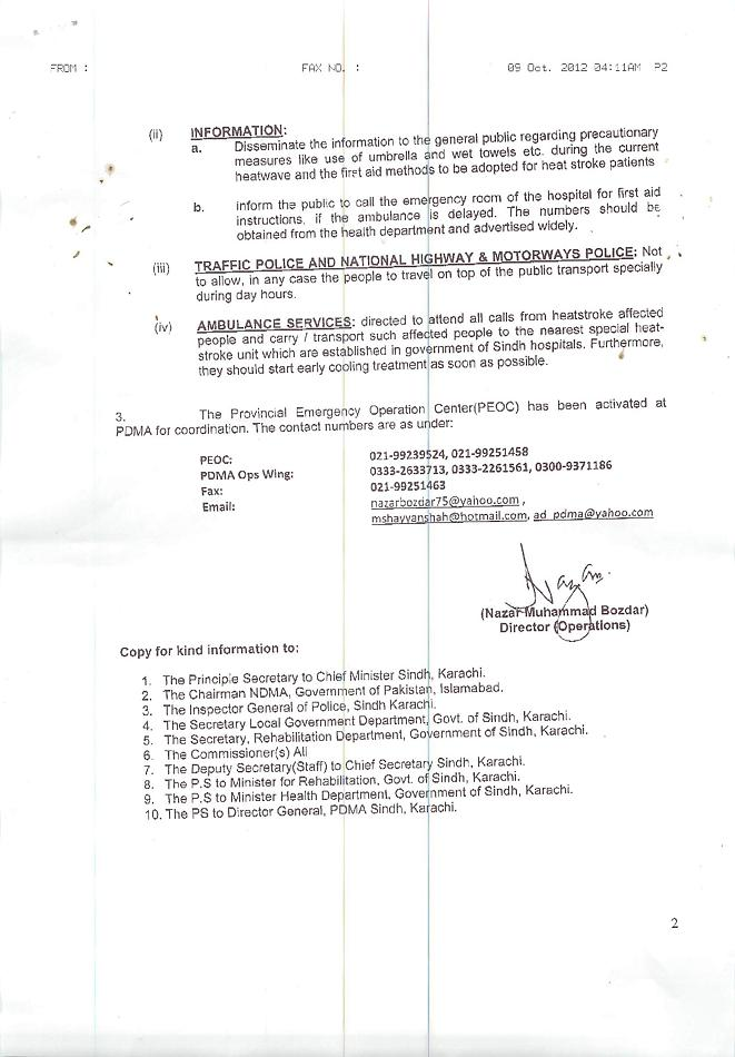 Notification of Establishment of Special Heat Stroke Care Unit in Province 23-6-2015 b