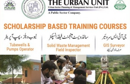 Urban Unit Punjab offer Scholarship based training courses
