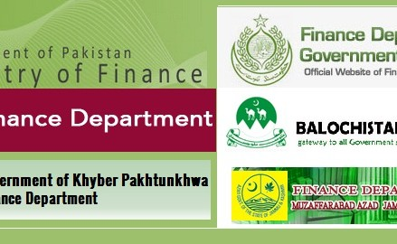 Finance Departments Websites in Provinces of Pakistan and AJK