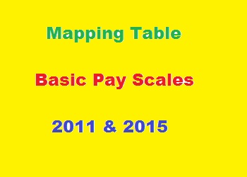 Mapping Table of Pay Scale 2011 and 2015 (Grade 1-22)