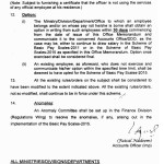 Notification of Revision of Basic Pay Scales 2015 and Allowanced of Federal Govt Employees 4